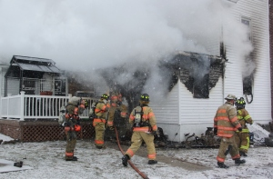 House Fire, 92 Ben Titus Road, Rush Township, 1-10-2014 (232)