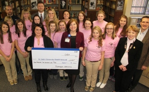 Pink Out Donation to St. Luke's Cancer Center, Tamaqua (1)