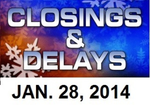 SCHOOL CLOSINGS AND DELAYS - JAN 28
