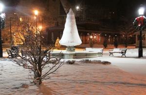 Snow, Depot Square Park, Tamaqua, 1-18-2014 (1)