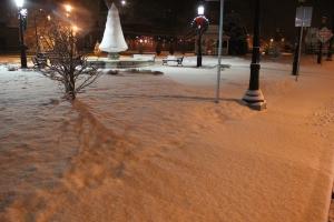 Snow, Depot Square Park, Tamaqua, 1-18-2014 (3)