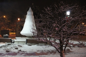 Snow, Depot Square Park, Tamaqua, 1-18-2014 (4)