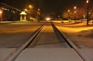 Train Station, Tracks, Snow, Tamaqua, 1-18-2014 (1)