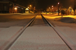 Train Station, Tracks, Snow, Tamaqua, 1-18-2014 (2)