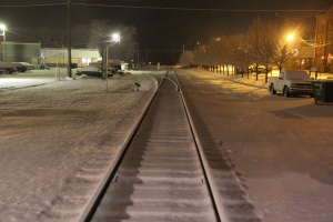 Trees, Train Tracks, S. Railroad Street, Snow, Tamaqua, 1-18-2014 (1.1)