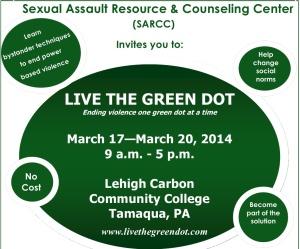Live The Green Dot Schuylkill Summit, SARCC