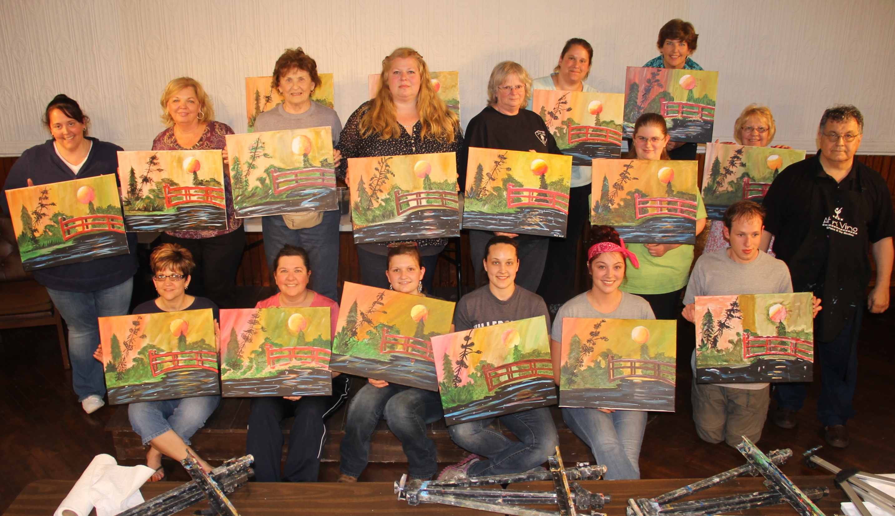Paint and sip held at tamaqua community arts center theme for Sip and paint