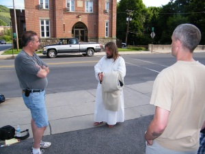 James, The Jesus Guy, visits Tamaqua, June 24, 2009 (13)