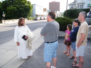James, The Jesus Guy, visits Tamaqua, June 24, 2009 (2)