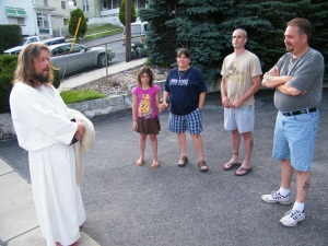 James, The Jesus Guy, visits Tamaqua, June 24, 2009 (20)