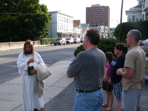 James, The Jesus Guy, visits Tamaqua, June 24, 2009 (22)