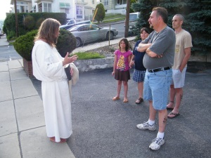 James, The Jesus Guy, visits Tamaqua, June 24, 2009 (4)