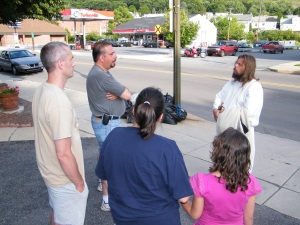James, The Jesus Guy, visits Tamaqua, June 24, 2009 (6)