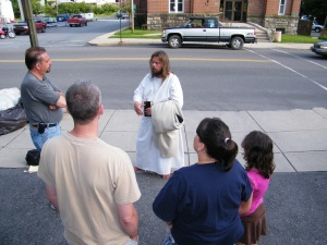 James, The Jesus Guy, visits Tamaqua, June 24, 2009 (8)