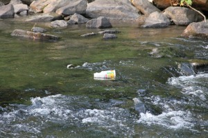 Pre Schuylkill River Cleanup, Next to Boyer's Food Market, Tamaqua, 8-7-2014 (28)