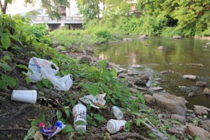 Pre Schuylkill River Cleanup, Next to Boyer's Food Market, Tamaqua, 8-7-2014 (53)
