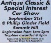 9-21-2014, Antique Classic and Special Interest Car Show, Ginder Field, Summit Hill