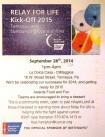 9-28-2014, 2015 Relay For Life Kickoff, La Dolce Casa, Tamaqua