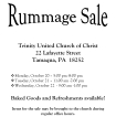 10-20-2014, Rummage Sale, Trinity UCC, Tamaqua