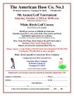 10-4-2014, American Hose Golf Tournament, White Birch Golf Course, Barnesville1