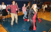 Members of the Drama Club dance to Halloween music during the event.