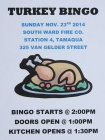 11-23-2014, Turkey Bingo, South Ward Fire Company, Tamaqua