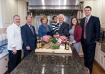 Koch's Turkey Farm and Yuengling will be the Thanksgiving meal for the Commonwealth's First Family. Standing in the Governor's Residence kitchen are, from left to right, Executive Chef Barry Crumlich, Senator Argall, first lady Susan Corbett, Governor Corbett holding his grandson, Liam, Elise Argall and Brock Stein.