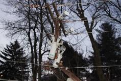Garbage Truck Snaps Pole, Crashes Into Tree, Elm Street, Tamaqua, 2-13-2015 (57)