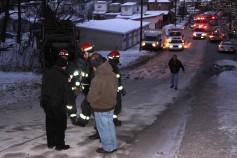 Garbage Truck Snaps Pole, Crashes Into Tree, Elm Street, Tamaqua, 2-13-2015 (61)