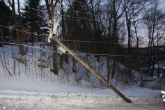 Garbage Truck Snaps Pole, Crashes Into Tree, Elm Street, Tamaqua, 2-13-2015 (62)
