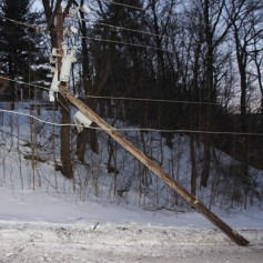 Garbage Truck Snaps Pole, Crashes Into Tree, Elm Street, Tamaqua, 2-13-2015 (62)