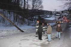 Garbage Truck Snaps Pole, Crashes Into Tree, Elm Street, Tamaqua, 2-13-2015 (63)