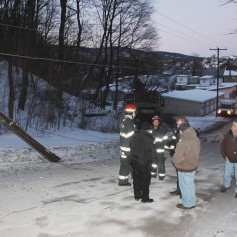 Garbage Truck Snaps Pole, Crashes Into Tree, Elm Street, Tamaqua, 2-13-2015 (63)
