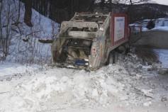 Garbage Truck Snaps Pole, Crashes Into Tree, Elm Street, Tamaqua, 2-13-2015 (64)