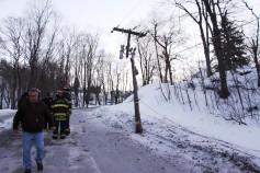 Garbage Truck Snaps Pole, Crashes Into Tree, Elm Street, Tamaqua, 2-13-2015 (69)