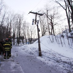 Garbage Truck Snaps Pole, Crashes Into Tree, Elm Street, Tamaqua, 2-13-2015 (69)