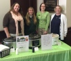 Natalie Bojko of Family Promise is shown with Lisa Perry, Donna Martino and Sharon Cimino of Mauch Chunk Trust Company on the Soup Day event hosted by MCT.