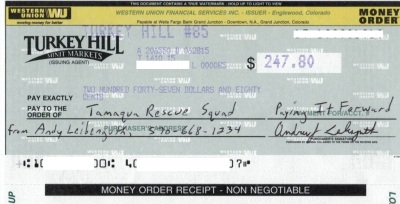 how to write a western union money order