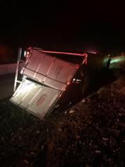 Overturned Tractor Trailer, Interstate 81, Exit 138, Kline Township, 6-7-2015 (1)