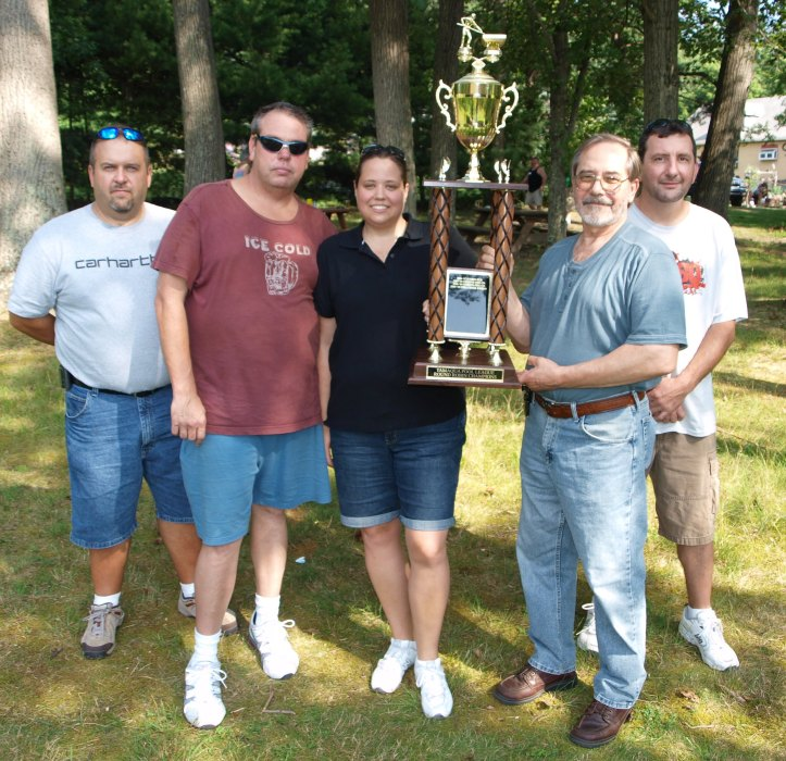 2009-2010 pool team winner representatives from left are First Place Overall team winner Willis Garber representing the Tamaqua