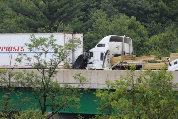 3 Tractor Trailer Accident, Mile Marker 126, Interstate 81, 7-30-2015 (24)