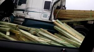 3 Tractor Trailer Accident, Mile Marker 126, Interstate 81, 7-30-2015, from Amber Haage (1)
