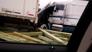3 Tractor Trailer Accident, Mile Marker 126, Interstate 81, 7-30-2015, from Amber Haage (2)
