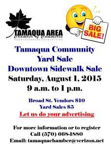 8-1-2015, Tamaqua Community Sidewalk and Yard Sale, Tamaqua