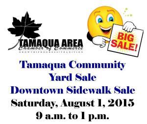 8-1-2015, Tamaqua Community Sidewalk, Yard Sale, Tamaqua