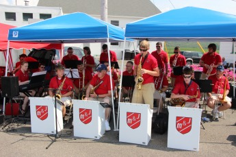 M & J Big Band performs, Heisler's Dairy Bar, Walker Township, 7-26-2015 (1)