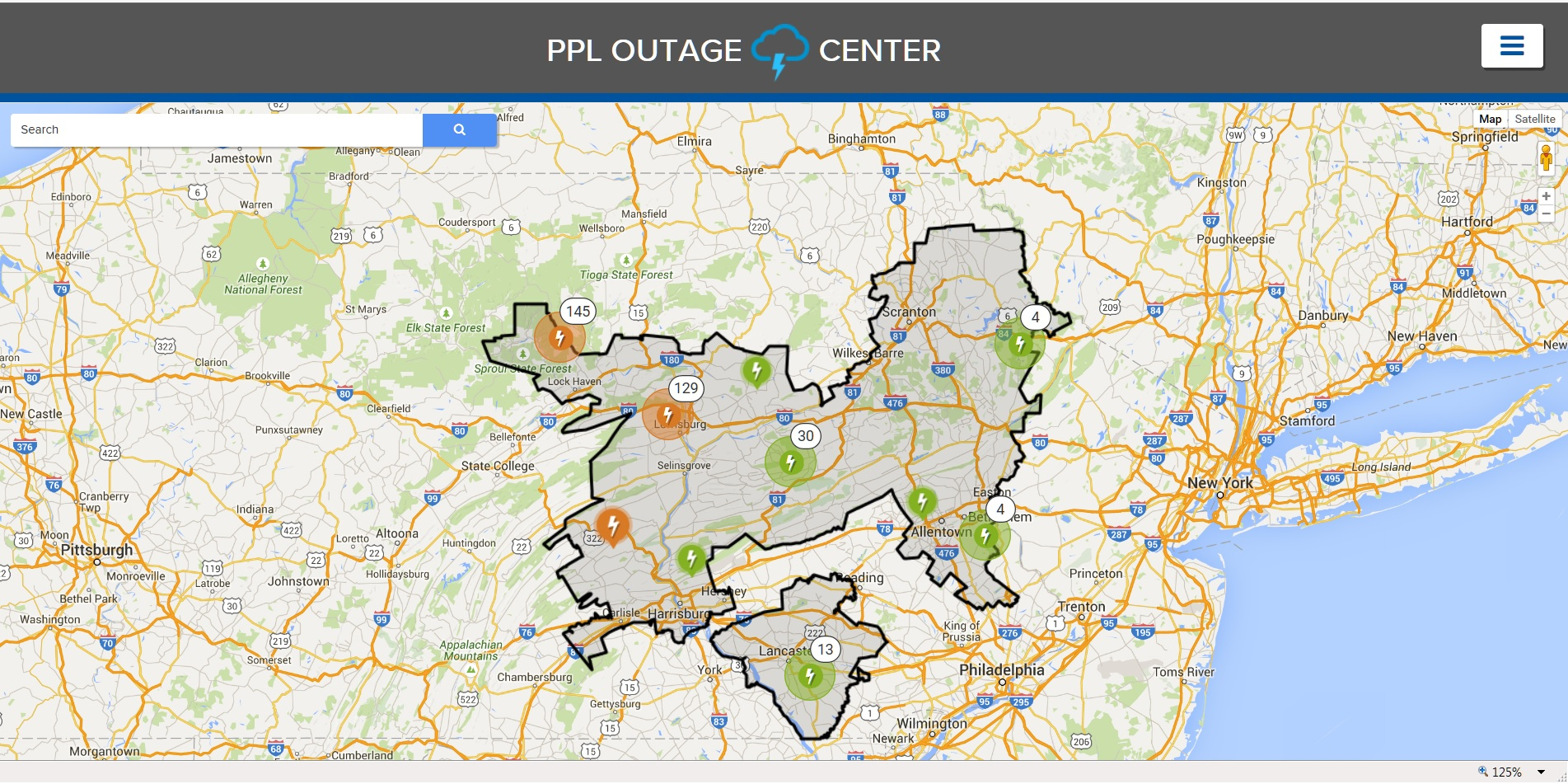 Oge Power Outages Map union pacific map charlottesville va map