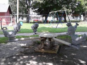 Work Started at North and Middle Ward Playground, Tamaqua, 8-1-2015 (1)