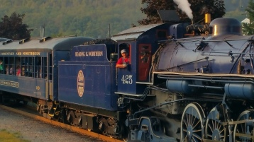1928 Baldwin 425 Steam Engine, Locomotive, Tamaqua Train Station, Tamaqua (111)