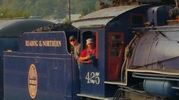 1928 Baldwin 425 Steam Engine, Locomotive, Tamaqua Train Station, Tamaqua (115)